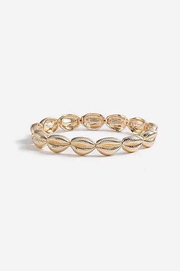 Topshop *stretch Shell Bracelet