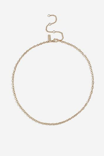 Topshop *beaten Oval Necklace