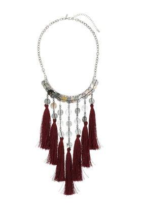 Topshop Shell And Tassel Cascade Necklace