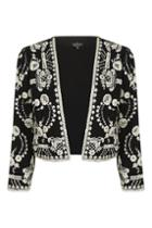 Topshop Petite Lace Embroidered Jacket