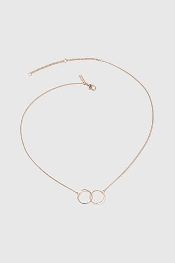 Topshop Interlocking Ring Ditsy Necklace