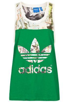 Topshop **printed Vest By Topshop X Adidas Originals