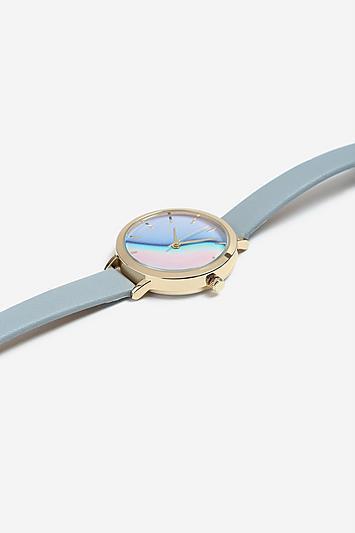 Topshop *pastel Wave Face Watch