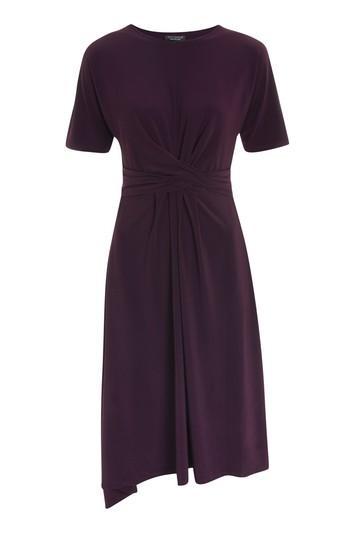 Topshop Drape Belt Midi Dress