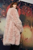 Topshop Long Marabou Jacket