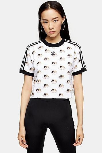 Adidas X Fiorucci Angel Crop T-shirt