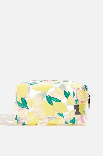 Topshop *zesty Lemon Makeup Bag By Skinnydip