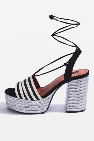 Topshop Loop Espadrille Platforms Sandals