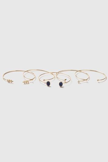 Topshop Fine Cuff Bracelet Pack