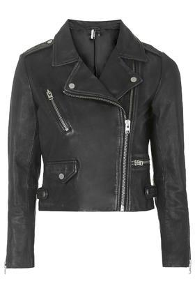 Topshop Leather Biker Jacket