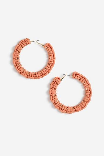 Topshop *large Rope Hoop Earrings