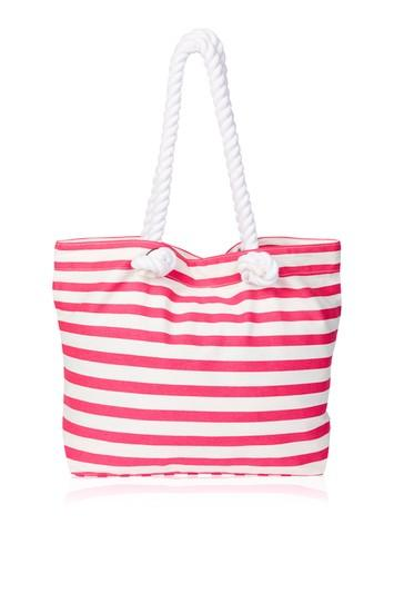 Topshop Print Canvas Beach Bag