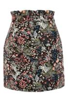 Topshop Woodland Jacquard Mini Skirt