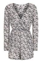 Topshop *wrapfront Printed Playsuit By Glamorous