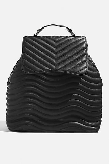 Topshop *lyla Quilted Black Backpack By Skinnydip