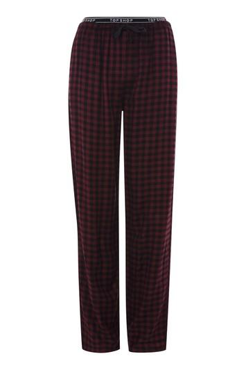 Topshop Checked Topshop Trousers
