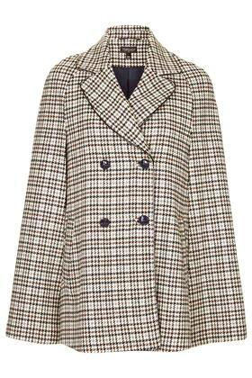 Topshop Heritage Check Cape
