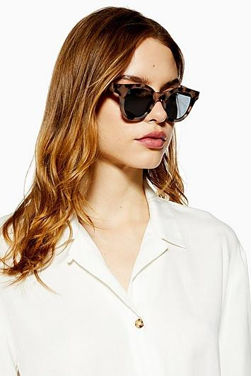 Topshop Helen Preppy Round Sunglasses