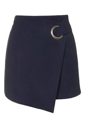 Topshop Eyelet Wrap Mini Skirt