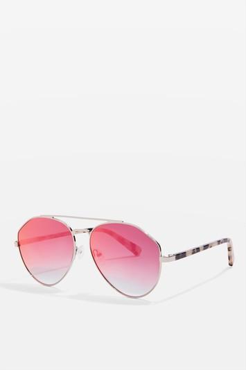 Topshop Premium Acetate Aviator Sunglasses