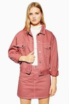 Topshop Pink Denim Jacket