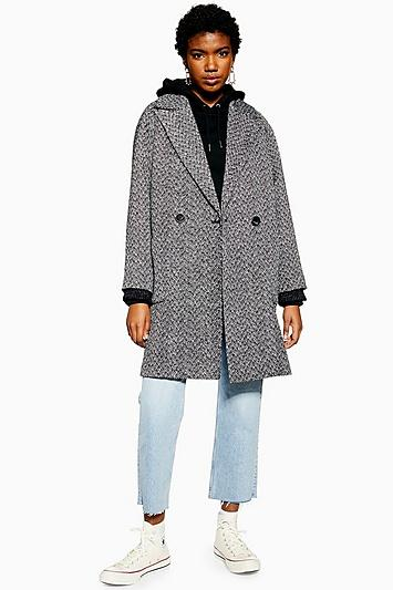 Topshop Herringbone Coat