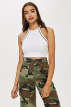 Topshop Petite Classic Cropped Top