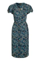 Topshop Tall Ditsy Floral Wrap Dress