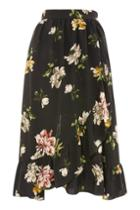 Topshop *floral Wrap Skirt By Yas