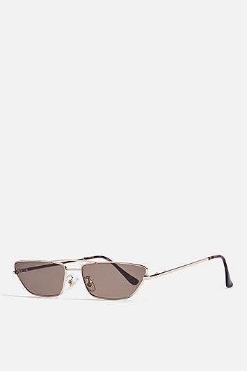Topshop Kia Metal Gold Sunglasses