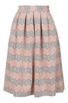 Topshop Petite Jacquard Midi Skirt