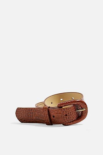 Topshop Crocodile Buckle Belt