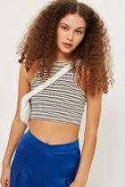 Topshop Lurex Striped Racer Top