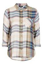 Topshop Pastel Check Shirt