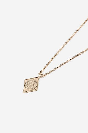 Topshop *diamond Engraved Ditsy Necklace