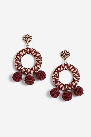 Topshop Wrapped Beaded Earrings