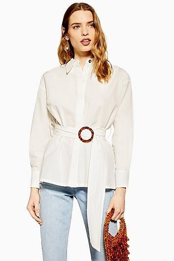 Topshop Belted Buckle Shirt