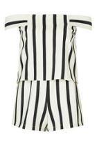 Topshop Stripe Bardot Playsuit
