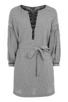 Topshop Gingham Smock Dress