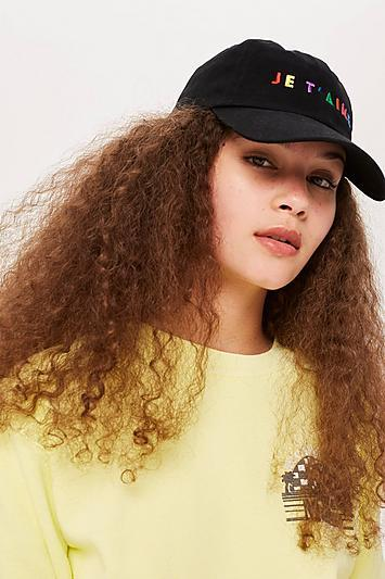 Topshop Je T'aime Embroidered Cap
