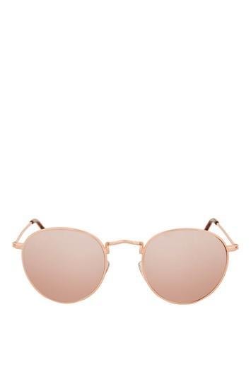 Topshop Metro Revo Round Sunglasses