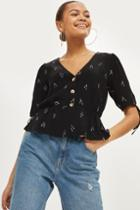 Topshop Arrow Embroidered Blouse