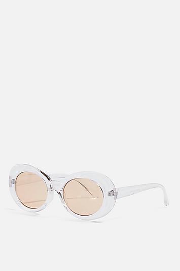 Topshop Pixie Oval Sunglasses