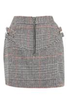 Topshop Buckle Side Checked Mini Skirt