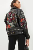 Topshop Embellished Biker Jacket