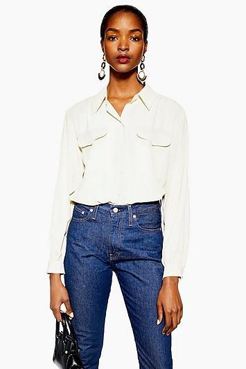 Topshop Tall Smart Pocket Shirt