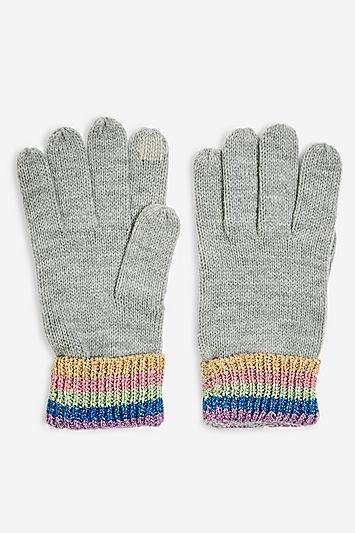 Topshop Rainbow Touchscreen Gloves