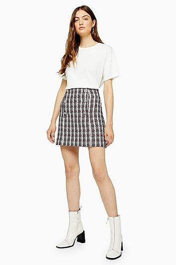 Topshop Pink Boucle Mini Skirt