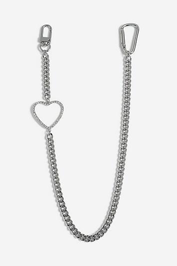 Topshop *heart Wallet Chain