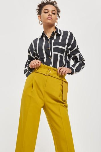 Topshop Belted Tapered Pants